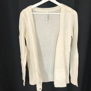 Wool blend cardigan. Small